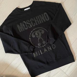 MOSCHINO - MOSCHINO ロゴトレーナー 黒スウェット