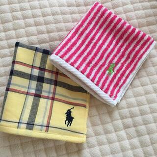 ラルフローレン(Ralph Lauren)のラルフローレン タオルハンカチ  ハンカチ 新品未使用 二枚(ハンカチ)