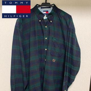 TOMMY HILFIGER - トミーヒルフィガー チェックシャツ 緑