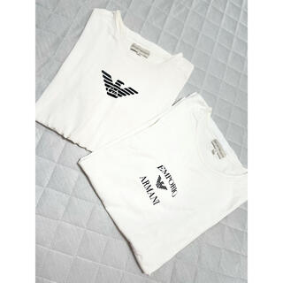 エンポリオアルマーニ(Emporio Armani)のアルマーニ 半袖Tシャツ ロゴ 2枚セット 白T ユニセックス(Tシャツ(半袖/袖なし))