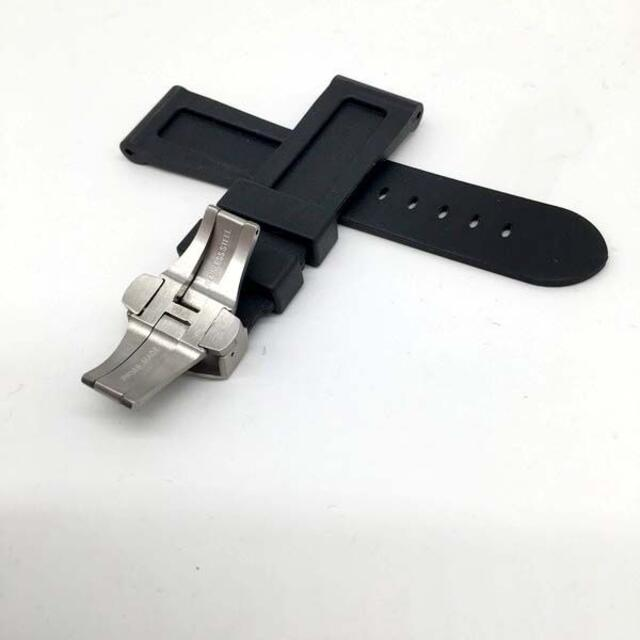 OFFICINE PANERAI(オフィチーネパネライ)の送料無料交換用時計ラバーベルトパネライ互換品ラグ幅24mm D黒 メンズの時計(ラバーベルト)の商品写真
