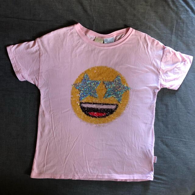 ZARA(ザラ)の150 ZARA スパンコールTシャツ キッズ/ベビー/マタニティのキッズ服女の子用(90cm~)(Tシャツ/カットソー)の商品写真