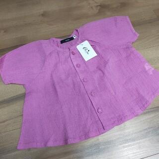 カルディア(CALDia)のCardiaカルディア新品80ブラウスキッズ女の子夏服Tシャツ(Tシャツ/カットソー)
