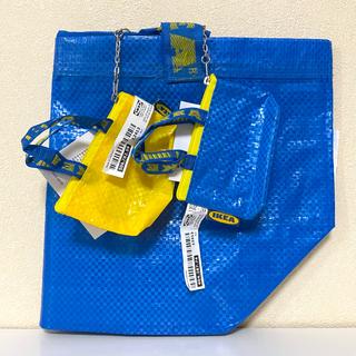 イケア(IKEA)のイケア IKEA限定★ブルーエコバッグバッグ。キーホルダーミニバッグ3点セット(エコバッグ)