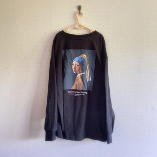 グローバルワーク(GLOBAL WORK)のヨハネス・フェルメール真珠の耳飾りの少女ロンT(Tシャツ(長袖/七分))