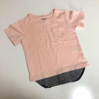 グローバルワーク(GLOBAL WORK)のレイヤード  Tシャツ 半袖 Sサイズ 90 95 100(Tシャツ/カットソー)
