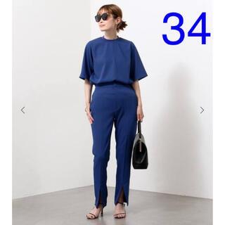ドゥーズィエムクラス(DEUXIEME CLASSE)のCINOH/チノ SLIT パンツ ブルー 34 ドゥーズィエムクラス(カジュアルパンツ)
