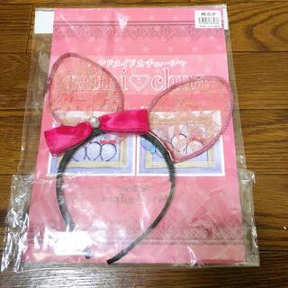 キラキラ カチューシャ 猫耳 ピンク ハンドメイド ネコ耳 コスプレ リボン(小道具)
