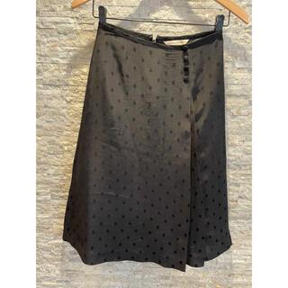 ヒューマンウーマン(HUMAN WOMAN)の黒ドッツ 膝丈スカート(ひざ丈スカート)