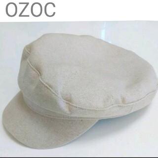 OZOC - 【美品】OZOC キャスケット リネン混