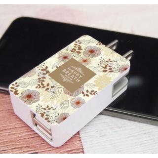 USB ACアダプター FlowerOrange