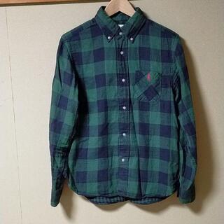 エムコーエン(M.Cohen)のcoen チェックシャツ ネルシャツ ガーゼ素材 Mサイズ グリーン(シャツ)