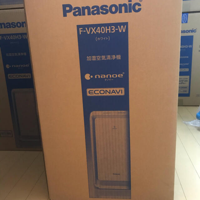 Panasonic(パナソニック)のPanasonic パナソニック F-VX40H3W 加湿空気清浄機 ナノイー スマホ/家電/カメラの生活家電(空気清浄器)の商品写真