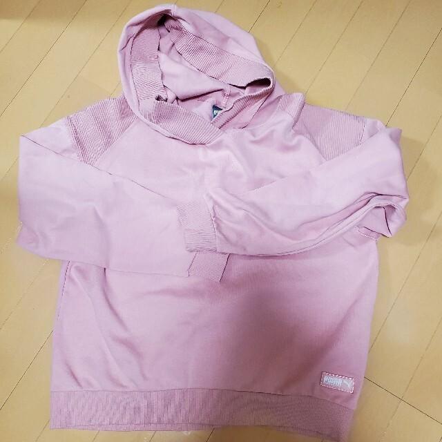 PUMA(プーマ)の美品【PUMA】プーマ ピンク フード パーカー トレーナー スウェット レディースのトップス(パーカー)の商品写真