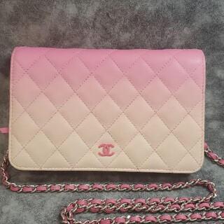 CHANEL - CHANEL グラデーション ピンク マトラッセ ラムスキン バッグ