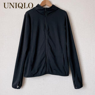 UNIQLO - UNIQLO エアリズムパーカー ブラック M