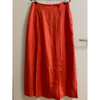 ナノユニバース(nano・universe)の新品未着用 フレンチリネンのロングスカート(ロングスカート)