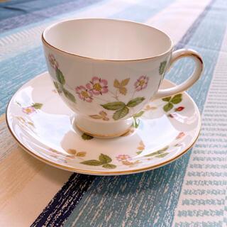 ウェッジウッド(WEDGWOOD)のウェッジウッド ワイルドストロベリーカップ&ソーサー⑅︎◡̈︎*(食器)