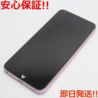 エルジーエレクトロニクス(LG Electronics)の美品 DM-01K ピンク 本体 白ロム (スマートフォン本体)