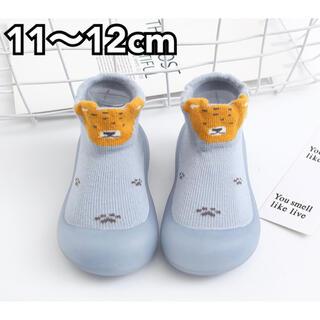 ベビーフィート ベビーシューズ 11cm 12cm ライオン ブルー(その他)