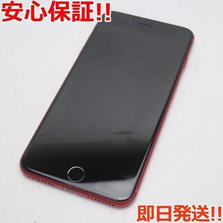 アイフォーン(iPhone)の美品 DoCoMo iPhone8 PLUS 64GB レッド (スマートフォン本体)
