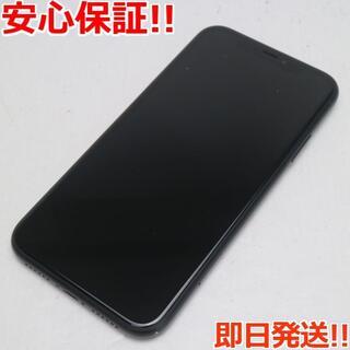 アイフォーン(iPhone)の超美品 au iPhoneXR 128GB ブラック 本体 白ロム (スマートフォン本体)