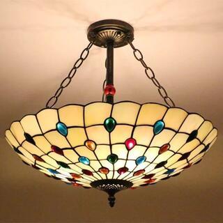 おしゃれ ステンドグラス ペンダントライト 天井照明ステンドグラスランプ(天井照明)