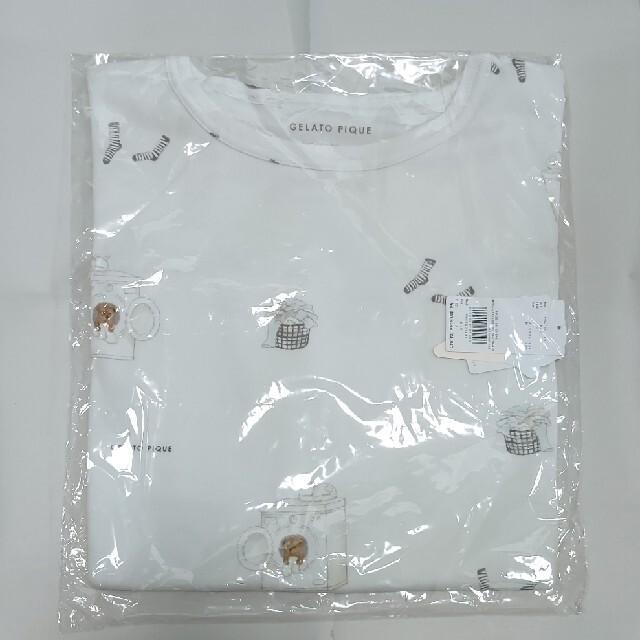 gelato pique(ジェラートピケ)の未開封 ジェラートピケ ランドリーベアTシャツ PWCT201289 レディース レディースのルームウェア/パジャマ(ルームウェア)の商品写真