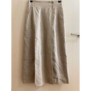 ナノユニバース(nano・universe)の美品 フレンチリネンのロングスカート(ロングスカート)