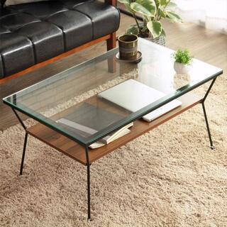 ガラステーブル ブラウン色 ローテーブル/センターテーブル/317(ローテーブル)