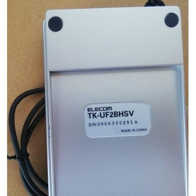 ELECOM(エレコム)の未使用品●エレコム2ポートUSB1.1HUB付USBテンキーパッド スマホ/家電/カメラのPC/タブレット(PC周辺機器)の商品写真