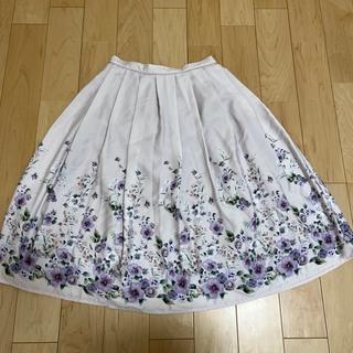 アールディールージュディアマン(RD Rouge Diamant)のRD スカート(花柄)(ひざ丈スカート)