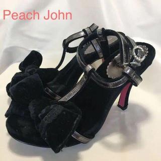 ピーチジョン(PEACH JOHN)の【Peach John】リボン付き ピンヒール サンダル(サンダル)