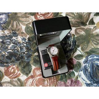 ウェンガー(Wenger)の箱付き 美品 WENGER ウェンガー THE GENUINE 革バンド 腕時計(腕時計(アナログ))