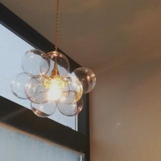 透明 ガラス ペンダントランプ (天井照明)