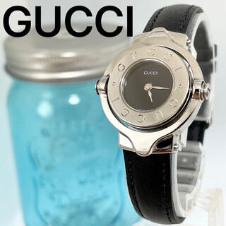グッチ(Gucci)の229 GUCCI グッチ時計 レディース腕時計 ブラック リバーシブル 人気(腕時計)