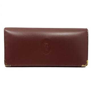 カルティエ(Cartier)のカルティエ Cartier マストライン 二つ折り長財布 二つ折り財布【中古】(財布)
