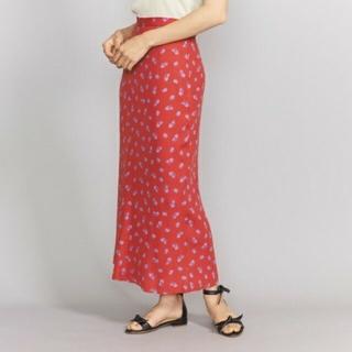 BEAUTY&YOUTH UNITED ARROWS - 美品 b&y U. A  春夏 フラワープリント 花柄 マキシ タイトスカート