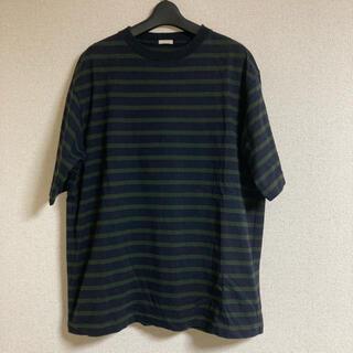 COMOLI - コモリCOMOLI コットン ボーダー半袖クルーネックTシャツ サイズ3紺*深緑
