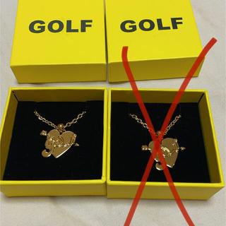 Golf Wang  ハートモチーフネックレス ゴールド