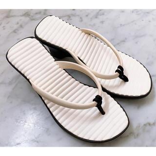 crocs - 未使用!クロックスcrocs トング ヒール サンダル サイズ7♪