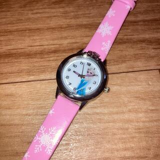 アナトユキノジョオウ(アナと雪の女王)の腕時計 エルサ ピンク (腕時計)