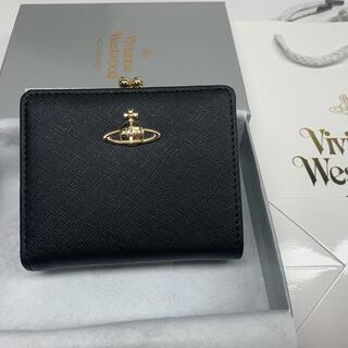 Vivienne Westwood - ヴィヴィアン 財布 二つ折り財布 vivienne westwood がま口 黒