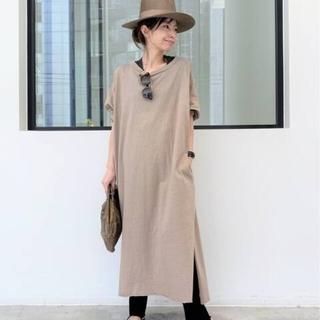 L'Appartement DEUXIEME CLASSE - PRINTED LONG DRESS/ ベージュ