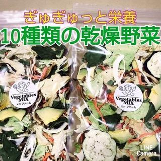 新鮮野菜【10種類の乾燥野菜おまかせMIX】50g×2袋  農薬不使用