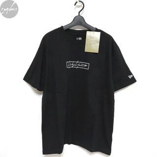 ヨウジヤマモト(Yohji Yamamoto)の20SS ヨウジヤマモト ニューエラ ボックス ロゴ Tシャツ 黒 3 M 新品(Tシャツ/カットソー(半袖/袖なし))