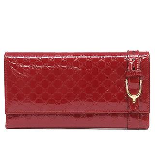 グッチ(Gucci)のグッチ  長財布  マイクログッチシマ ニース 309760  レッド(財布)