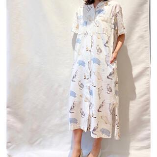 gelato pique - ジェラートピケ×旭山動物園♡アニマルモチーフシャツドレス♡