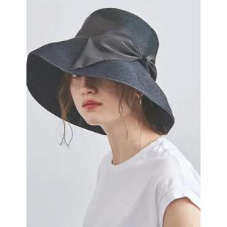 アシーナニューヨーク  ブラック 麦わら帽子