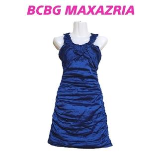 ビーシービージーマックスアズリア(BCBGMAXAZRIA)の【新品】BCBG MAXAZRIA・シャーリングワンピース(ミニワンピース)